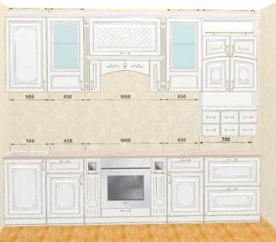 Кухня Прага прямая 3,1 м